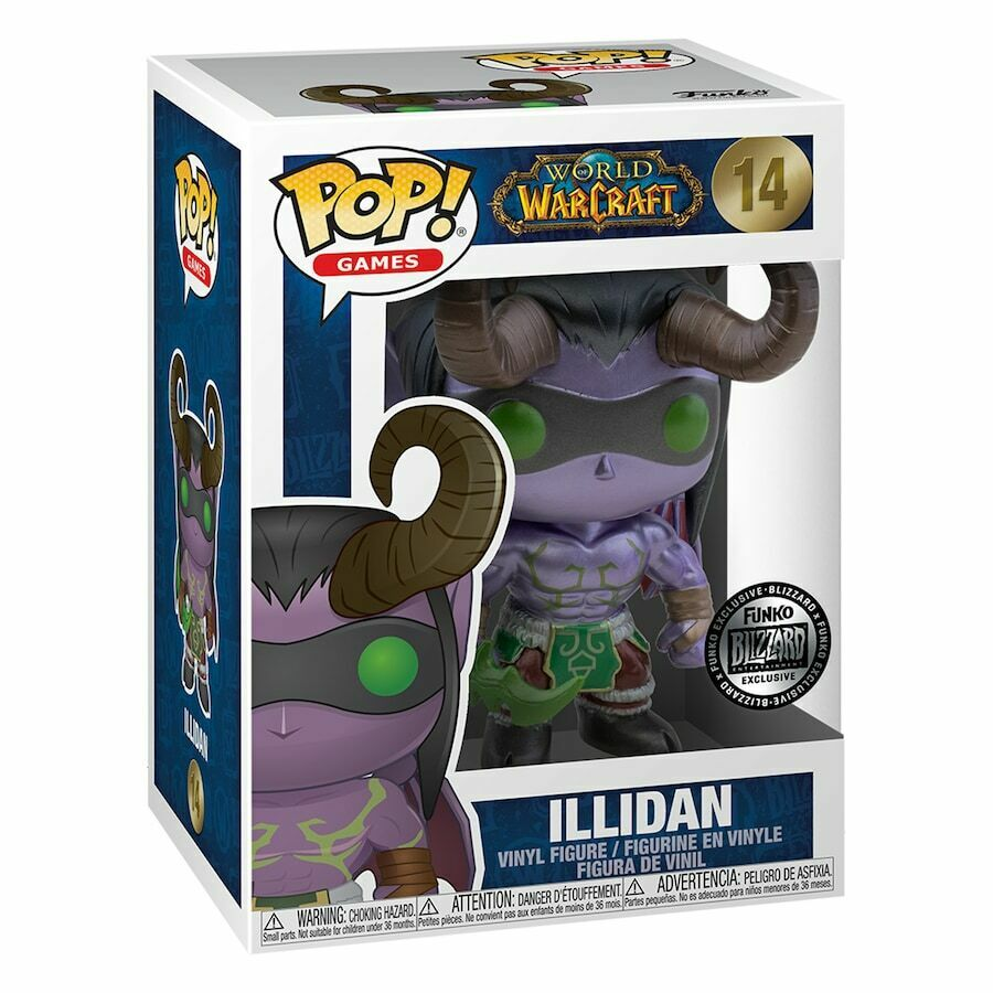 Фигурка Blizzard Exclusive Funko Pop! World of Warcraft Illidan Figurine Иллидан Фанко