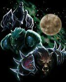 Футболка World of Warcraft Three Worgen Moon ( M, XL)